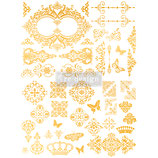 "redesign Goldtransfer ""Gilded Baroque Scrollwork"""