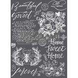 "redesign Motiv Transfer ""Beautiful Home"" weiß"