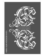 """redesign 3D Schablone """"Giulia Scrolls"""""""
