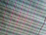 karierter Baumwollstoff / plaid cotton fabric