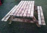 Picknick - Garnitur - Biergarnitur Massivholz geflammt
