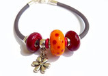 bracelet GUM orange/rouge