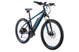 """E-bike MTB 27,5"""" Leader Fox SWAN,2018-2 17,5"""" GRAU MATT/GRÜN"""