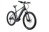 "E-bike MTB 27,5"" plus Leader Fox OREM,2018-1 17,5"" SCHWARZ MATT/GRÜN"