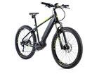 "E-bike MTB 27,5"" plus Leader Fox OREM,2018-1 17,5"" SCHWARZ MATT/GRÜN"