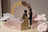 Origamo Pop-Up Karte - Hochzeit