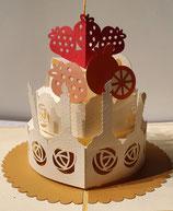 Origamo Pop-Up Karte - Geburtstagskuchen