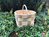 Плетеная корзина из сосновой щепы №10