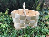 Плетеная корзина из сосновой щепы №12