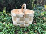 Плетеная корзина из сосновой щепы №6