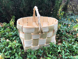 Плетеная корзина из сосновой щепы №11
