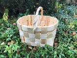 Плетеная корзина из сосновой щепы №2