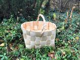 Плетеная корзина из сосновой щепы №1