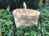 Плетеная корзина из сосновой щепы №7