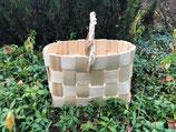 Плетеная корзина из сосновой щепы №9