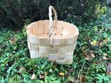 Плетеная корзина из сосновой щепы №4