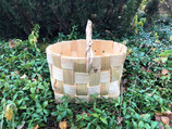 Плетеная корзина из сосновой щепы №5