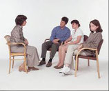 Sesión de una hora de psicoterapia familiar
