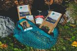 Starter-Kit Nr. 1 mit trendigem (Meeres-) Gemüse-Einkaufsnetzli und Rezeptkarten-Set