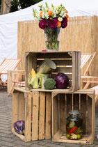 3 x Holzkisten - Streetfood- dekoration