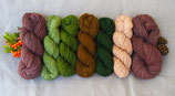 welthase Highland DK YARN KIT: green palette (2)  contains 400g six colours