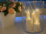Uyuni LED Stumpenkerze Farbe Nordic white