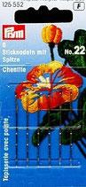 STICKNADELN CHENILLE MIT SPITZE N.22