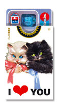 cardbox c 0125 > Kätzchen I LOVE YOU