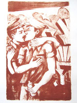 "Lithography ""Police Kiss"""