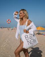 "Shopping Bag 'Enjoy the Now"" - NATUR"