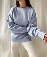 NEW SAY WHAT (Sweater blau)