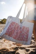 Shopping Bag 'Ich liebe Dich' - GRAU