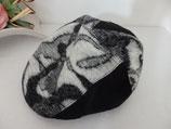 Casquette béret en lainage gris et noir