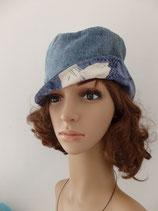 Chapeau cloche en jean recyclé