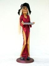 Réplica de bruja camarera con bandeja para decorar Halloween