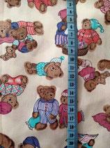 Baumwolle Bärchen im Pyjama