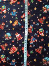 Baumwolle Bärchen mit Sternen dunkelblau