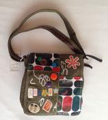 Umhänge- tasche Handtasche Retro olivgrün