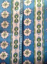 Baumwolle Streifen und Muster blau weiß