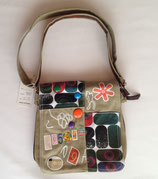 Umhänge- tasche Handtasche Retro khaki