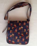 Umhänge- tasche Handtasche Eulen dunkelblau