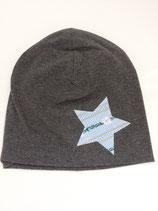 Beanie / Stern hellblau