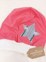 Beanie pink mit Sternapplikation