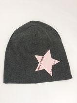 Beanie / Stern rosa