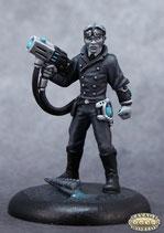 Steampunk bewaffneter Wissenschaftler