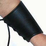 Leder Armschutz schwarz  11cm