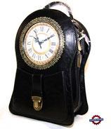 Handtasche Standuhr schwarz