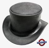 Steampunk Lederzylinder schwarz