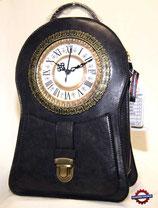 Handtasche Standuhr grau