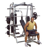 Body Solid Station Multipressen Set 50 mm 7° angewinkelt mit Gun Rack - GS-348P4